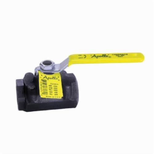 Apollo™ 73A-103-01-A 73A-100 2-Piece Ball Valve, 1/2 in, FNPT, Forged Carbon Steel Body, Standard Port, MPTFE Softgoods, Domestic