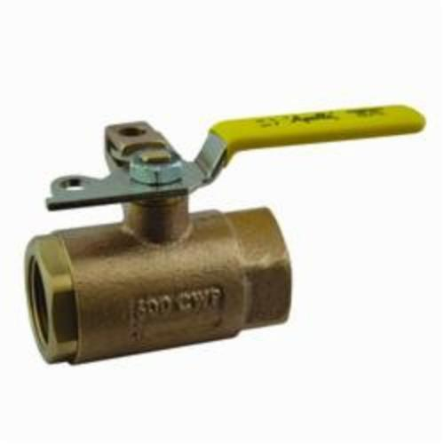 Apollo™ 75-105-01 75-100 2-Piece Ball Valve With Pad Lock, 1 in Nominal, FNPT End Style, Bronze Body, Standard Port, Domestic