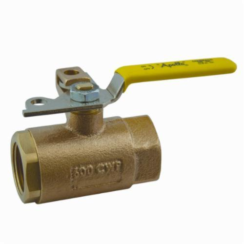 Apollo™ 75-103-01 75-100 2-Piece Ball Valve, 1/2 in Nominal, FNPT End Style, Bronze Body, Standard Port, MPTFE Softgoods, Domestic