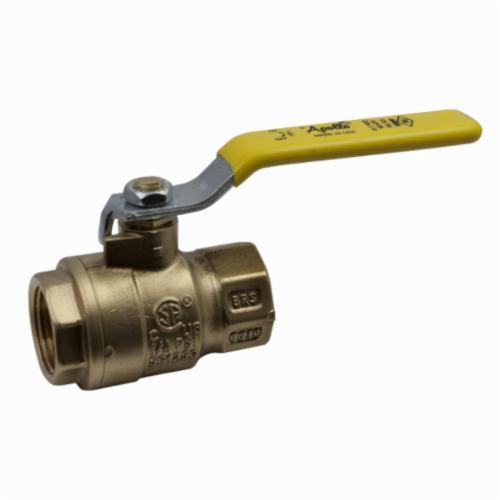 Apollo™ 77F-108-01 77F-100 2-Piece Ball Valve, 2 in Nominal, FNPT End Style, Forged Brass Body, Full Port, RPTFE Softgoods, Domestic