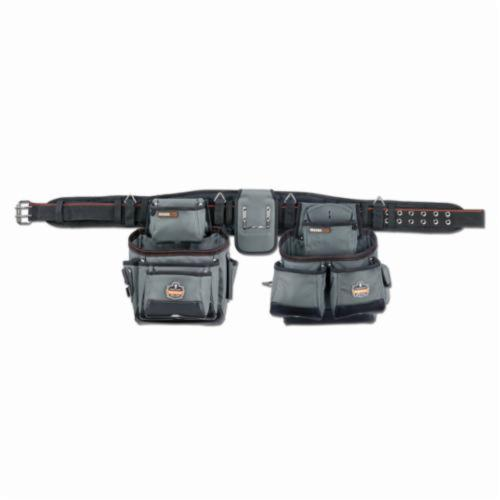 Arsenal® 13601 5500 Large Synthetic Tool Rig, 28 Pockets, 1680D Ballistic Polyester, Gray