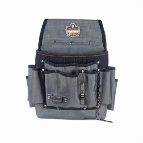 Arsenal® 13648 5548 Electrician's Tool Pouch, 2 Pockets, 1680D Ballistic Polyester, Gray