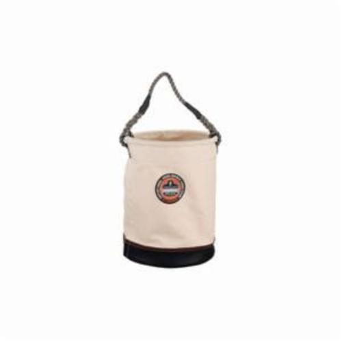Arsenal® 14430 5730 Leather Bottom Bucket, 150 lb Load, 1 Pockets, 20 oz Canvas, White