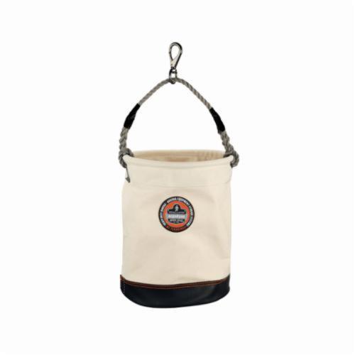Arsenal® 14440 5740 Swivel Leather Bottom Bucket, 150 lb, 1 Pockets, 20 oz Canvas, White