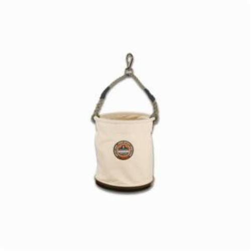 Arsenal® 14443 5743 Large Swivel Plastic Bottom Bucket, 100 lb, 1 Pockets, 18 oz Canvas, White