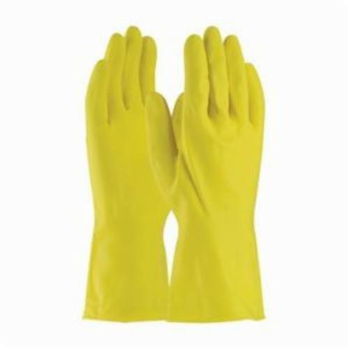 Assurance® 47170Y Chemical Resistant Gloves, Natural Rubber Latex, Yellow, Unlined Lining, 12 in L, Resists: Abrasion, Cut, Puncture and Tear, Unsupported Support, Beaded Rolled Cuff, 18 mil THK, Hand Specific Hand