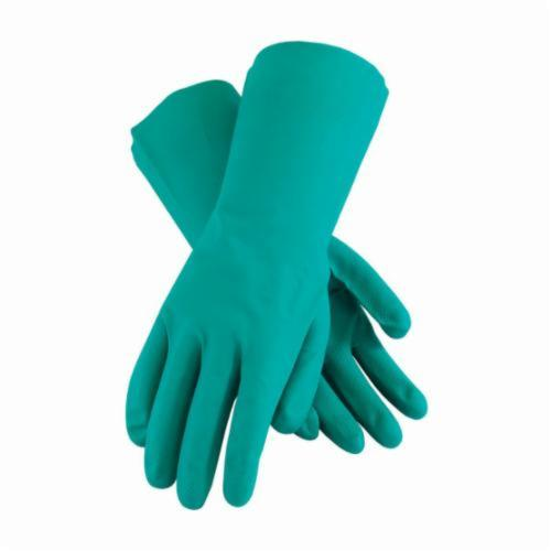 Assurance® 50-N110G Lightweight Chemical Resistant Gloves, Nitrile, Green, Unlined Lining, 13 in L, Resists: Abrasion, Chemical and Puncture, Unsupported Support, Straight Cuff, 11 mil THK, Hand Specific Hand