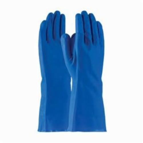 Assurance® 50-N140B Medium Weight Chemical Resistant Gloves, Nitrile, Blue, Unlined Lining, 13 in L, Resists: Abrasion, Cut, Chemical, Puncture and Tear, Unsupported Support, Straight Cuff, 15 mil THK, Hand Specific Hand