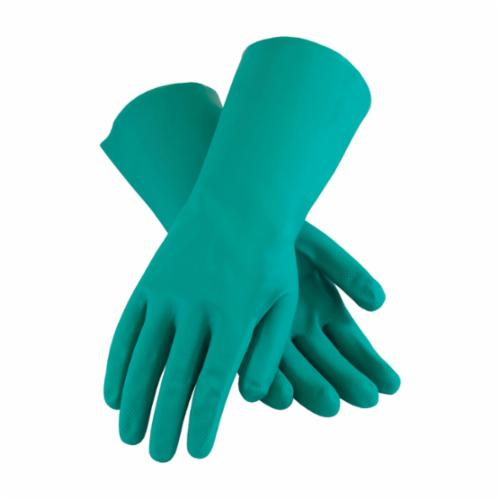 Assurance® 50-N140G/L Medium Weight Chemical-Resistant Gloves, L, Ambidextrous Hand, Nitrile, Green, Unlined Lining, 13 in L, Resists: Abrasion, Cut, Chemical, Puncture and Tear, Unsupported Support, Straight Cuff, 15 mil THK