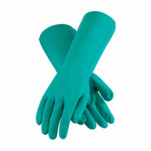 Assurance® 50-N2250G Chemical Resistant Gloves, Nitrile, Green, Unlined Lining, 15 in L, Resists: Abrasion, Chemical, Cut, Puncture and Snag, Unsupported Support, Straight Cuff, 22 mil THK, Hand Specific Hand