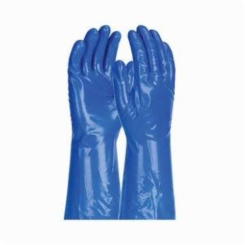 Assurance® 50-NKH11 Lightweight Chemical Resistant Gloves, Nitrile, Blue, Unlined Lining, 13 in L, Resists: Abrasion, Cut, Puncture and Tear, Unsupported Support, Straight Cuff, 11 mil THK, Hand Specific Hand
