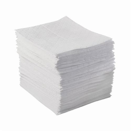 SPC® BASIC® BPO500 Lightweight Perforated Absorbent Pad, 17 in L x 15 in W x 1 ply THK, 17 gal Absorption, Meltblown Polypropylene