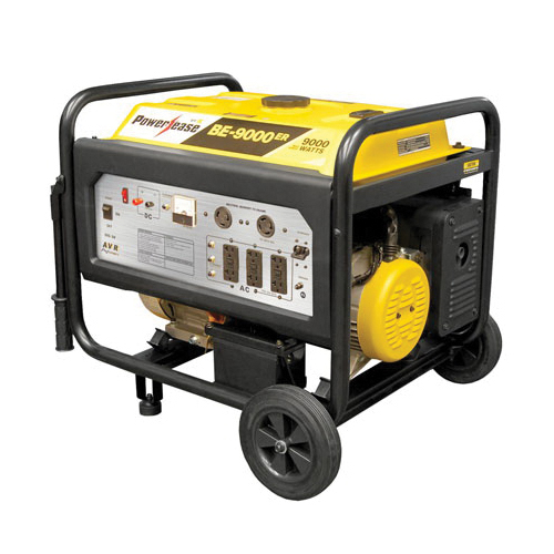 BE BE-9000ERUSC Generator, 120/240 VAC, 59 A, 9000 W, OHV Engine