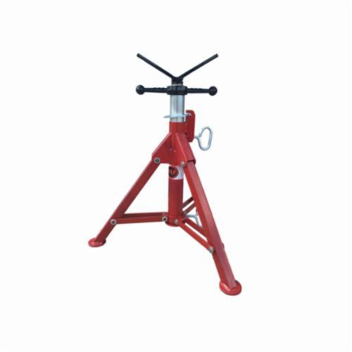 B&B Pipe and Industrial Tools 4000 Short Folding Leg V-Head Pipe Jack, 12 in Pipe, 2500 lb Load, Square Tube Leg