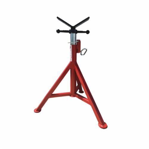 B&B Pipe and Industrial Tools 4100 Fixed Leg V-Head Pipe Jack, 12 in Pipe, 2500 lb Load, Square Tube Leg, Steel
