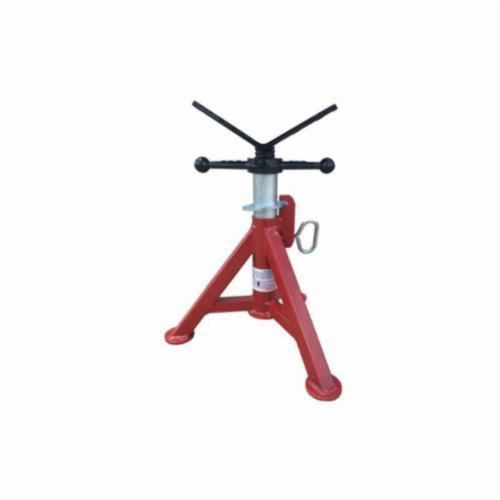 B&B Pipe and Industrial Tools 4240 Super Short Fixed Leg V-Head Pipe Jack, 12 in Pipe, 2500 lb Load, Square Tube Leg, Steel