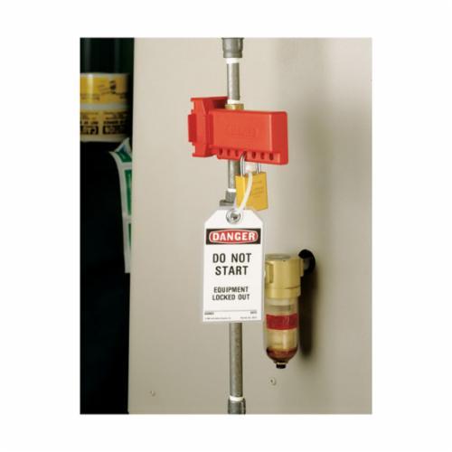 North® by Honeywell BS01R B-Safe® Ball Valve Lockout, Fits Minimum Handle Size: 7/8 in W, Fits Minimum Pipe Size: 3/8 in, Fits Maximum Pipe Size: 1-1/4 in, 1 Padlocks, -50 deg F Min, 360 deg F max