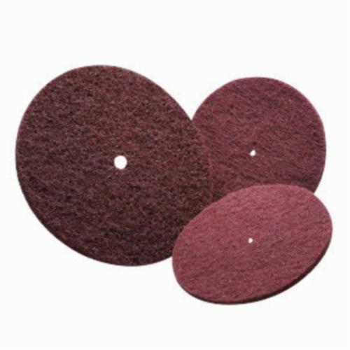 Norton® High Strength 66261007628 Non-Woven Abrasive Disc, 6 in Dia, 240/360 Grit, Very Fine Grade, Aluminum Oxide Abrasive, Fiber Backing