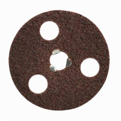 Norton® AVOS® Rapid Prep™ Speed-Lok® 66261010447 Non-Woven Abrasive Disc, 4-1/2 in Dia, 60/120 Grit, Coarse Grade, Aluminum Oxide Abrasive, Speed-Lok Fastener Attachment