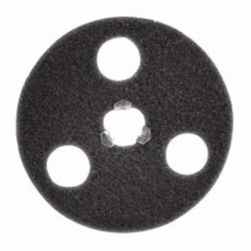 Norton® Bear-Tex® Rapid Strip™ 66261010448 Non-Woven Abrasive Disc, 4-1/2 in Dia, 120/180 Grit, Medium Grade, Aluminum Oxide Abrasive, Speed-Lok Fastener Attachment