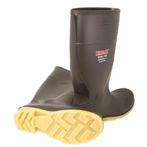 Tingley Better Grade™ 51244-14 Knee Boots, Men's, SZ 14, 15 in H, Steel Toe, PVC Upper, PVC Outsole, Resists: Caustics, Certain Acid, Fats, Hydrocarbons and Water, ASTM F2413-11 M I/75 C/75
