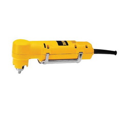 DeWALT® DW160V Heavy Duty Right Angle Drill Kit, 3/8 in Keyed Chuck, 120 VAC, 0 to 1200 rpm, 10-1/4 in OAL