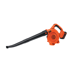 Black+Decker® LSW20 Cordless Handheld Sweeper, 90 cfm, 120 mph, 20 V 3 Ah Lithium-Ion Battery