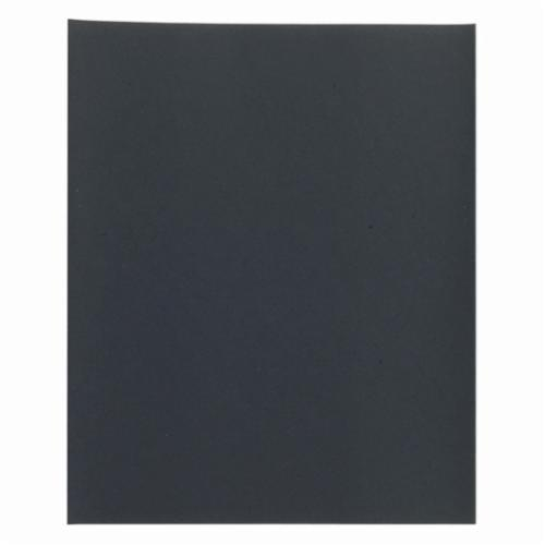 Norton® Black Ice™ 66261139377 T401 Coated Sanding Sheet, 11 in L x 9 in W, 2500 Grit, Ultra Fine Grade, Silicon Carbide Abrasive, Paper Backing
