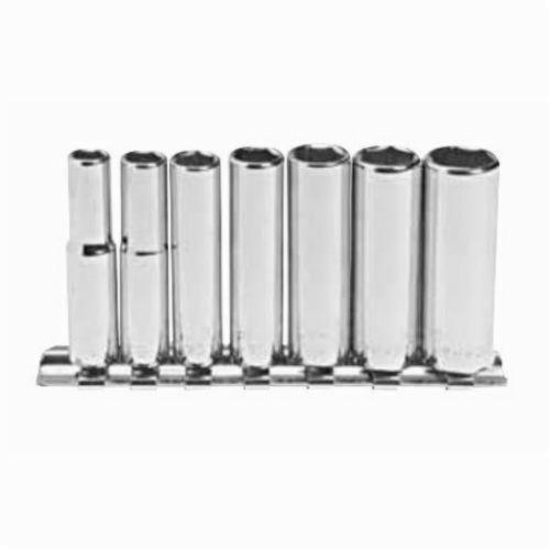 Stanley® 107-CNB Deep Socket Set, Imperial, 7 Pieces, Full Polished