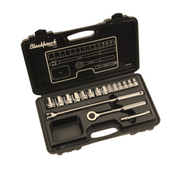 Blackhawk™ by Proto® 1218-S Socket Set, Imperial, 1/2 in Drive, Round Head, 17 Pieces, Full Polished