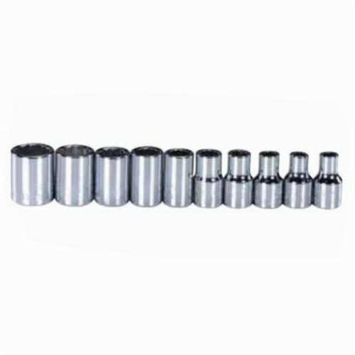 Stanley® 1412-6M Combination Socket Set, Metric, 10 Pieces, Full Polished