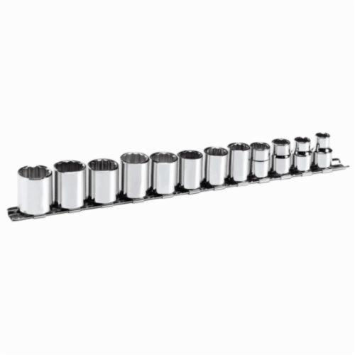 Stanley® 3812-M Socket Set, Metric, 12 Pieces, Full Polished