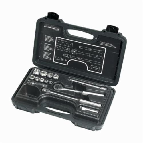Stanley® 3814ANB Socket Set, Imperial, 14 Pieces, Full Polished
