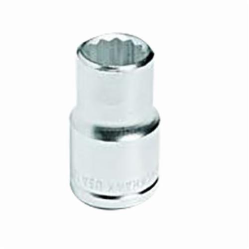 Stanley® 43012M Standard Length Socket, Metric, 1/2 in Square Drive, 12 mm