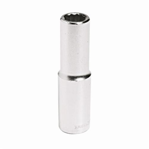 Stanley® 44027M Deep Length Socket, Metric, 1/2 in Square Drive, 27 mm