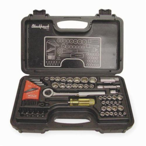 Stanley® 9753-B Socket Set, Imperial/Metric, 65 Pieces, Full Polished