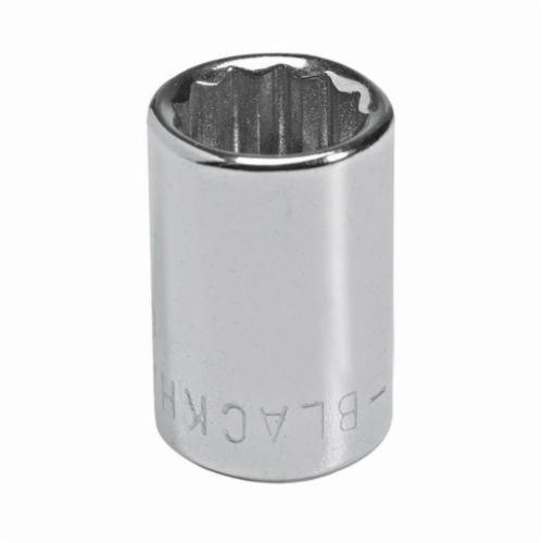 Stanley® GW-1711 Standard Length Socket, 1/4 in Square Drive, 11/32 in, 12 Points
