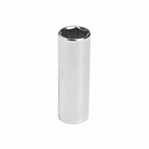 Stanley® GW-513M Deep Length Socket, 1/4 in Square Drive, 13 mm, 6 Points