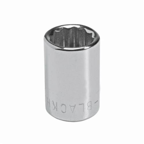 Stanley® GW-707M Standard Length Socket, Metric, 1/4 in Square Drive, 7 mm
