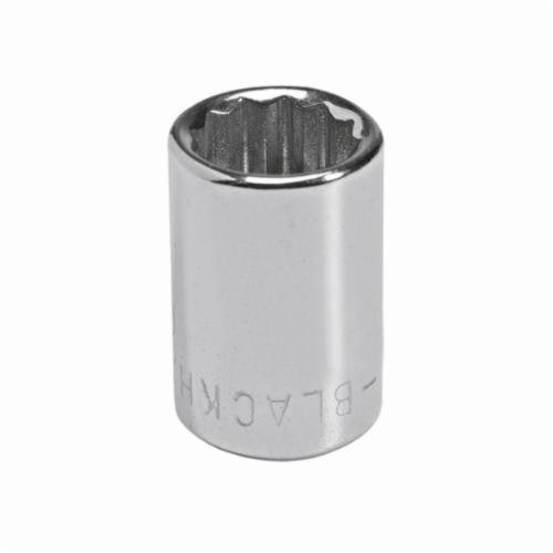 Stanley® GW-712M Standard Length Socket, Metric, 1/4 in Square Drive, 12 mm