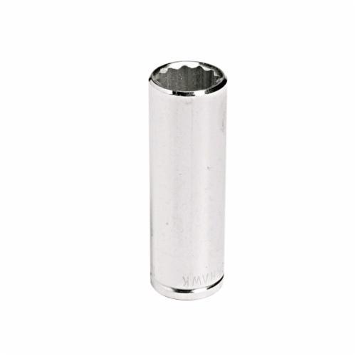 Stanley® HW-1612M Deep Length Socket, Metric, 3/8 in Square Drive, 12 mm