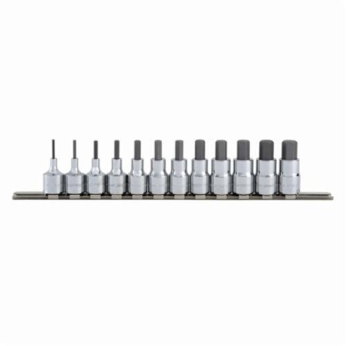 Blackhawk™ by Proto® HW-9412MS Socket Bit Set, 2 to 12 mm Hex, 3/8 in Drive, 12 Pieces, Full Polished