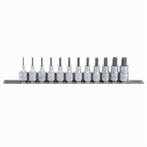 Blackhawk™ by Proto® HW-9412S Socket Bit Set, 1/16 to 3/8 in Hex, 3/8 in Drive, 12 Pieces, Full Polished