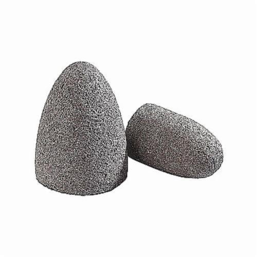 Norton® BlueFire® 66253344377 Portable Snagging Cone, 1-1/2 in Max Diameter, 3 in THK Head, 24 Grit, Very Coarse Grade, Zirconia Alumina Abrasive