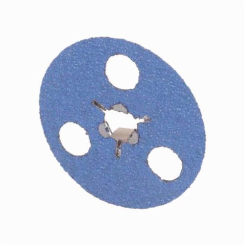Norton® AVOS® BlueFire® Speed-Lok® 66261129719 F826P Heavy Duty Coated Abrasive Disc, 4-1/2 in Dia Disc, 36 Grit, Extra Coarse Grade, Zirconia Alumina Abrasive, Speed-Lok Fastener Attachment