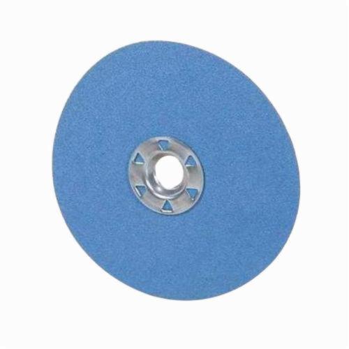 Norton® BlueFire® 66261138796 F826P Heavy Duty Coated Abrasive Disc, 5 in Dia, 5/8-11 Center Hole, 36 Grit, Extra Coarse Grade, Zirconia Alumina Abrasive, Speed Change Fastener Attachment