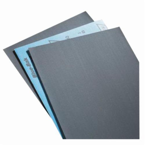 Norton® Blue-Bak™ 66261139361 T414 Coated Sandpaper Sheet, 11 in L x 9 in W, 500 Grit, Ultra Fine Grade, Silicon Carbide Abrasive, Paper Backing