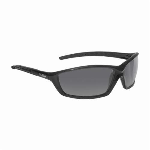 Full and Bollé Safety 253-SS-40063 Solis Safety Eyewear with Shiny Black Nylon