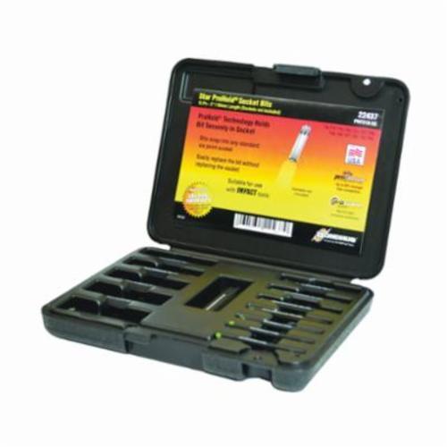 Bondhus® 22437 ProHold® Socket Bit Set, T8 to T60 Torx, 13 Pieces, ProGuard™