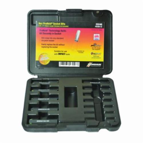 Bondhus® 23246 ProHold® Socket Bit Set, 4 to 10 mm Hex, 6 Pieces, ProGuard™